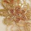 delux lurex ribbon embroidered mesh gold